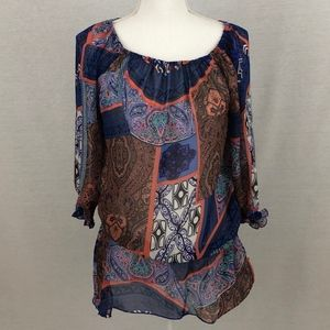 Madison Paige Sheer Top Size S